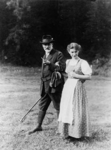 Sigmund and his daughter, Anna Freud.