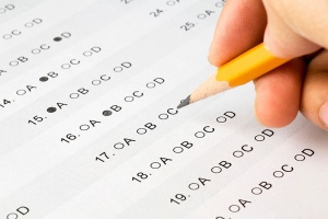 Source: Wikimedia Commons.  By the way, the exam is totally electronic, so stray pencil marks that mess up a Scantron are one less worry.